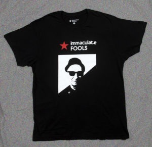 Immaculate Fools T-Shirt with silhouette of Kevin Weatherill's head